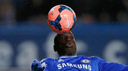 Ba pictured playing for Chelsea. AFP
