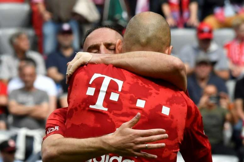 Robben and Ribery played their last game for Bayern on Saturday. AFP