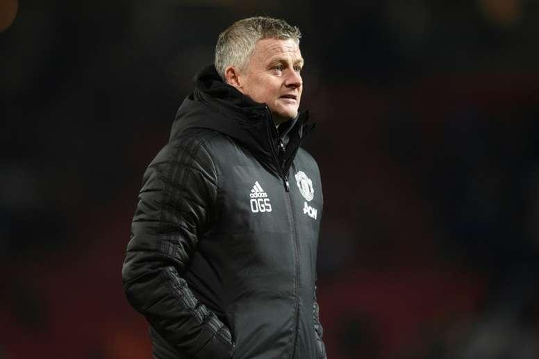 Solskjaer a gentiment taclé Manchester City. AFP