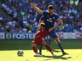Mo Salah earnt Liverpool a penalty against Cardiff. AFP