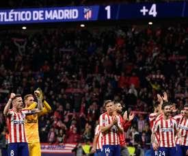 Six joueurs de l'Atletico ont leur avenir incertain au Wanda. AFP