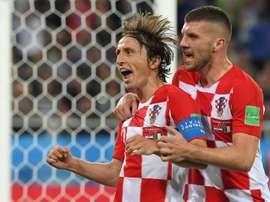 Modric sentenció el partido de penalti. AFP