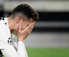 Ronaldo was visibly devastated after Juve were knocked out by Ajax. AFP.