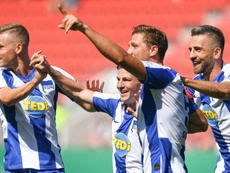 Hertha Berlin cruised past fifth tier opponents in the German Cup. AFP