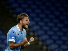 Immobile scored his 35th Serie A goal in Lazio's win over Brescia. AFP