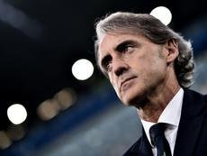 Mancini once again included Mario Balotelli. AFP