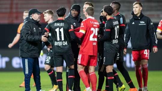 Polémica racista en el Union Berlin-Bayer Leverkusen. AFP