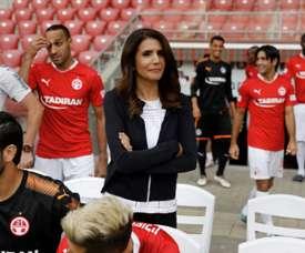 Alona Barkat is making history in Israeli football. AFP