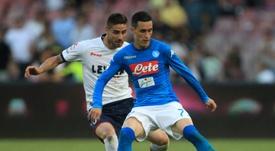 Callejon marcou o segundo golo do Napoli. EFE