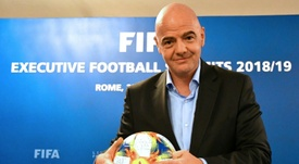 Infantino has been FIFA President since 2016. AFP