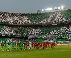 The Benito Villamarin stadium before the derby between Betis and Sevilla earlier this season. AFP