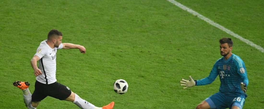 Eintracht Frankfurt lost 2-1 to fourth-division side Ulm. AFP