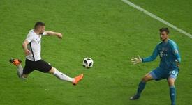 Rebic no jugará ante el Fortuna Düsseldorf. AFP