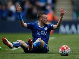 Leicester Citys Jamie Vardy was sent off for diving against West Ham United on April 17, 2016