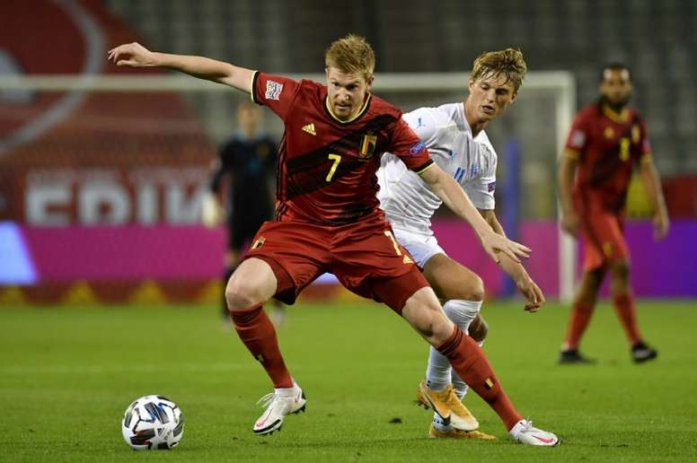 Kevin De Bruyne expects big things from England in upcoming major tournaments. AFP