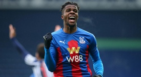 African players in Europe: Virus victim Zaha back with a bang. AFP