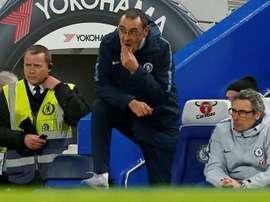 Sarri a encore perdu avec Chelsea. AFP
