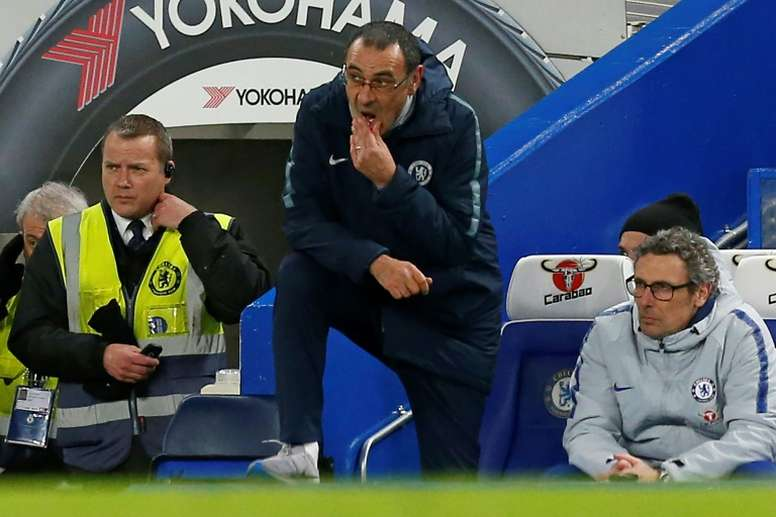 Pressure on Maurizio Sarri lifted a little with victory. AFP