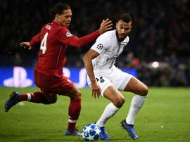 Choupo-Moting was robbed while playing against Liverpool. AFP