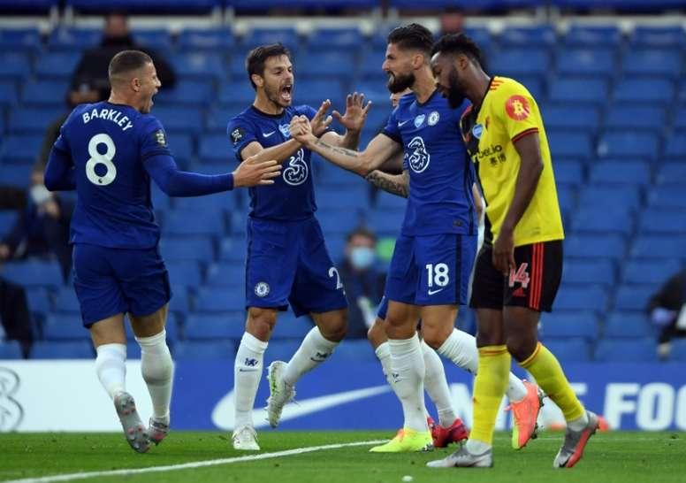 Chelsea won 3-0. AFP