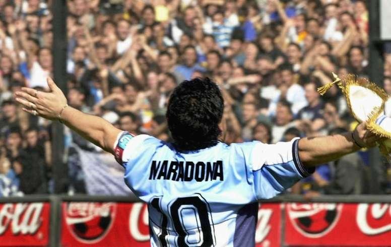 De Laurentiis omaggia Maradona. AFP