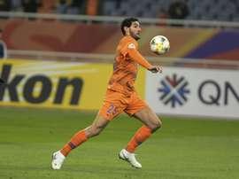 Marouane Fellaini scored a late winner for Shandong Luneng. AFP