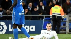 Bale é dúvida contra o Valladolid. AFP