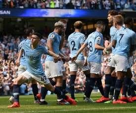 Phil Foden scored the winning goal against Tottenham. AFP