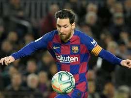 Lineker once again praised Leo Messi. AFP