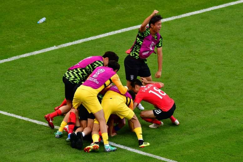 South Korea ended Germany's World Cup dreams. AFP