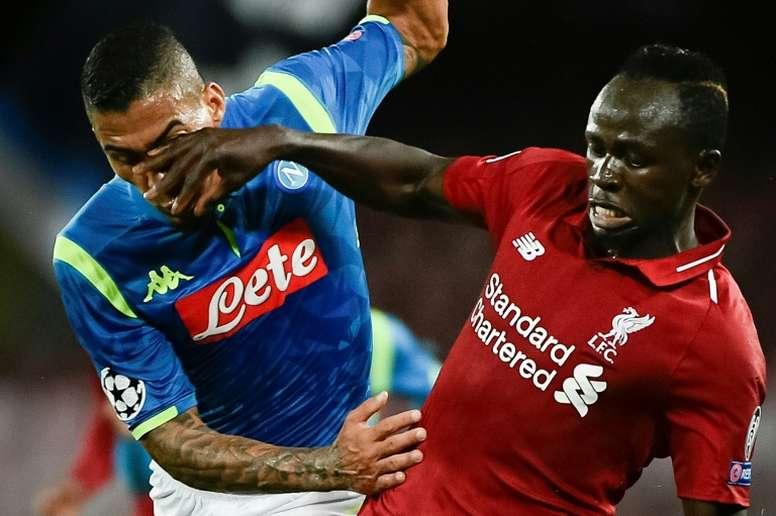 El Nápoles llega con fuerza a la Europa League. AFP