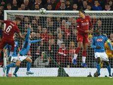Liverpool drew 1-1. AFP