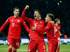 Lewandowski strikes again as Bayern go second in Bundesliga. AFP