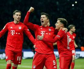 Bayern goleira o Hertha em 45 minutos. AFP
