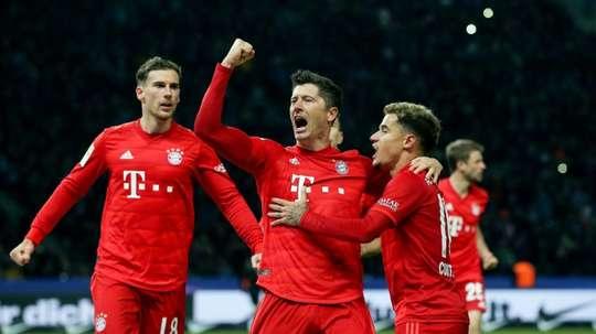 Lewandowski strikes again as Bayern go second in Bundesliga. AFP
