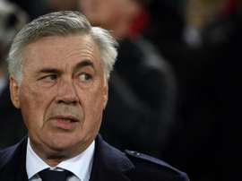 Ancelotti has to win his next two games at Napoli or he will be axed. AFP