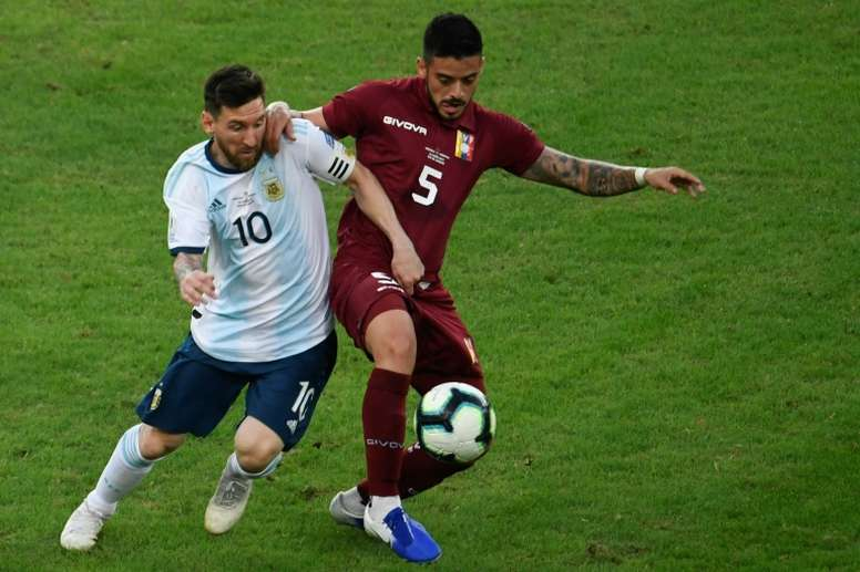 Messi claims there is no clear favourites for the semi-final against Brazil. AFP