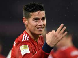 Rodriguez hit an impressive hat-trick as Bayern Munich thrashed Mainz 6-0 on Sunday. AFP