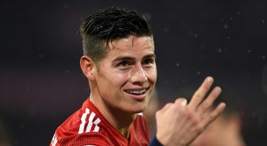 Rodriguez hit an impressive hat-trick as Bayern Munich thrashed Mainz 6-0 on Sunday. AFP