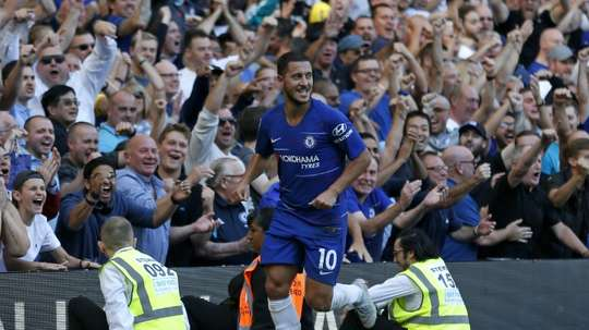 Hazard could be on his way to the Bundesliga. AFP