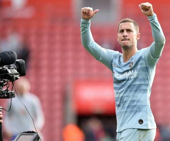 Hazard recibió los elogios de su seleccionador. AFP