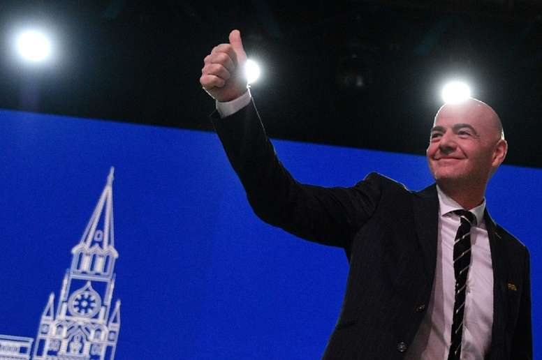 Infantino spoke at the FIFA Congress in Moscow. AFP