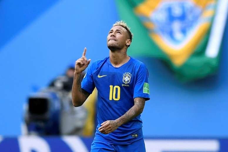 Brasil y Bélgica, un partidazo por todo lo alto. AFP