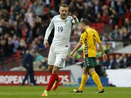 Vardy came on for Defoe to also score against Lithuania.