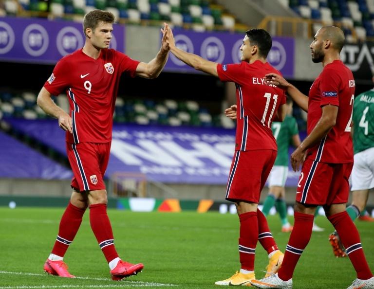 Sorloth, con la Selección Noruega