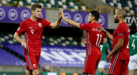 Sorloth has moved to RB Leipzig. AFP
