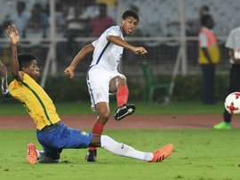 Brewster has seven goals so far in the tournament in India. AFP