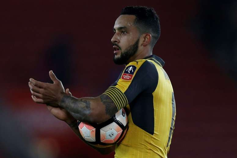 Everton could offer Walcott a January escape. AFP