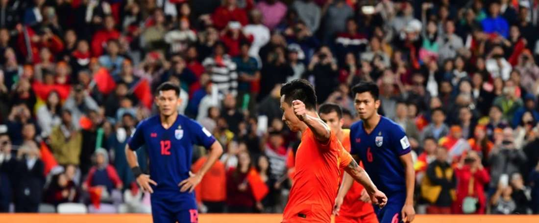 China came from behind to eliminate Thailand. AFP