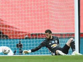David de Gea cometeu falha contra o Chelsea. AFP